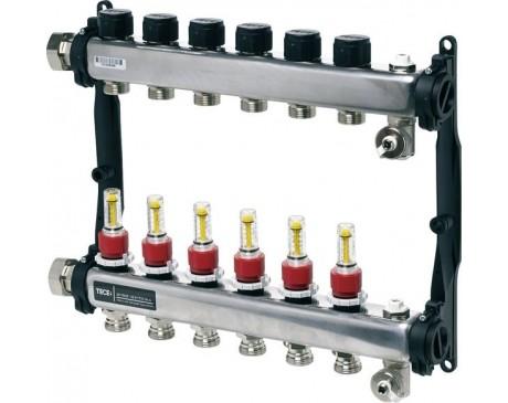 Distribuitor Tece 1X3/4 9 Circuite Echipat Inox